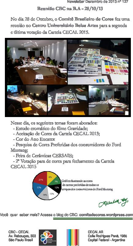Última Reunião para Votação da Cartela CECAL 2015 na Belas Artes