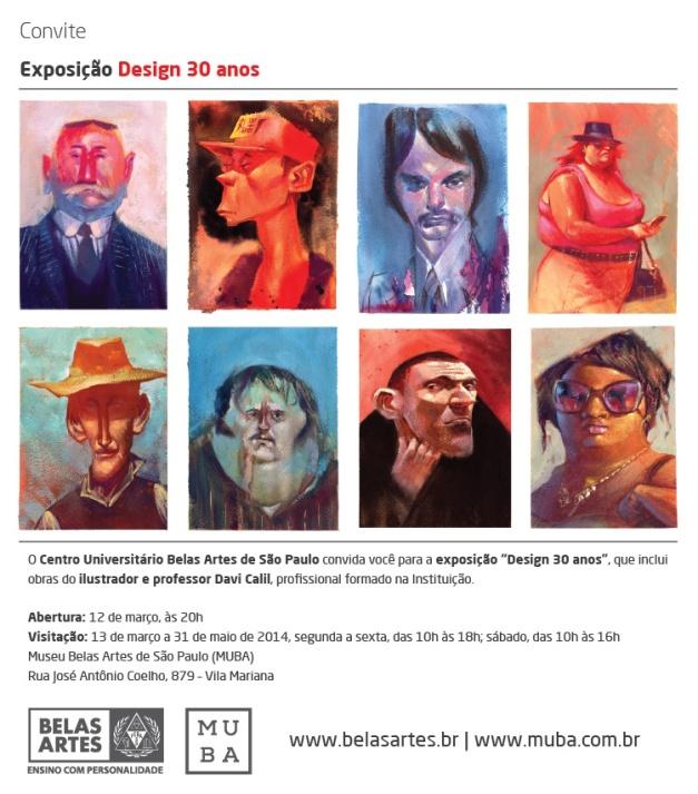 Convite - Exposição Design 30 Anos