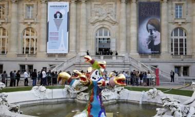 Exposição Niki de Saint Phalle, aberta no Grand Palais, em Paris.